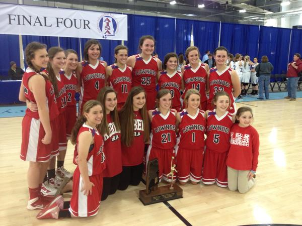 Lowndes Academy Varsity Girls State Champs